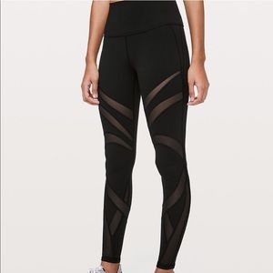 "Lululemon HR Wunder Under 28"" Leggings"